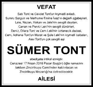 3X10-VEF.SÜMER TONT-İSTANBUL