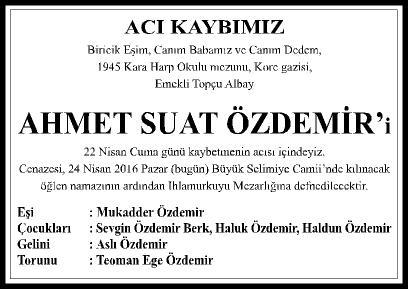 ACI KAYBIMIZ - AHMET SUAT ÖZDEMİR - 4X10