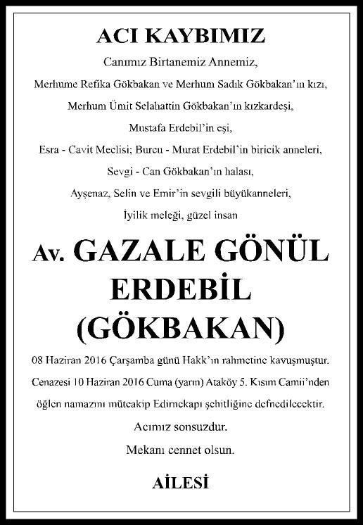 ACI KAYIP - 5X26- AV. GAZELE GÖNÜL ERDEBİL