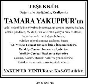TESEKKUR - TAMARA YAKUPPUR