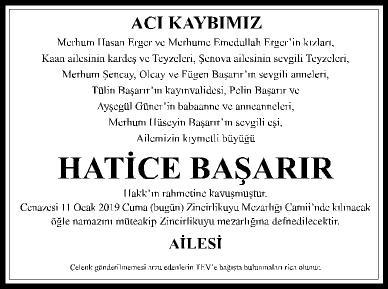 ACI KAYBIMIZ - HATİCE BAŞARIR